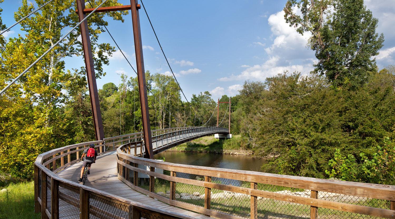 Neuse River Greenway Trail Suspension Bridges