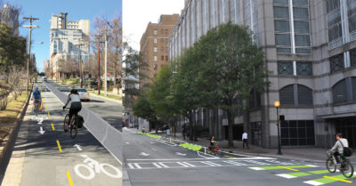 """Uptown Cycle Track – Moving Charlotte toward a """"City of Bikes"""""""