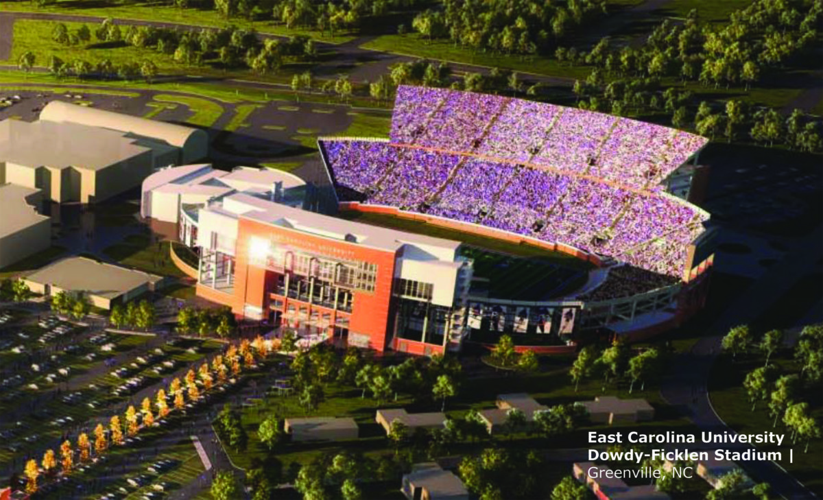 Dowdy-Ficklen stadium rendering