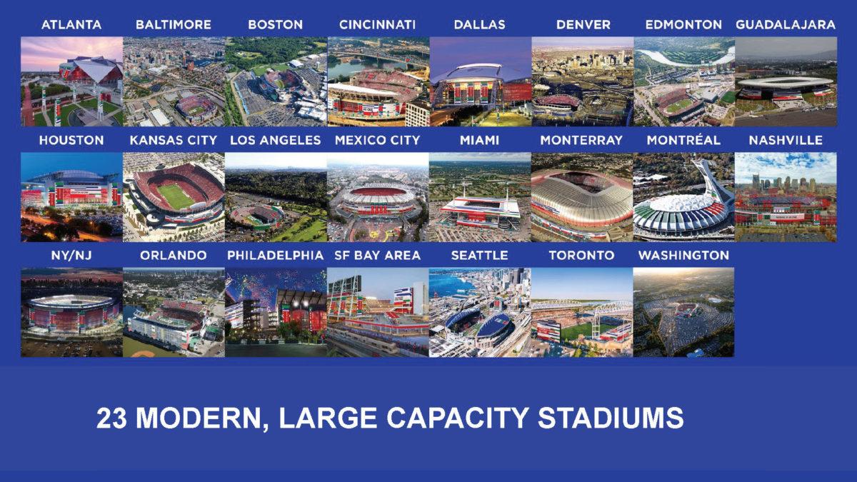 23 stadiums