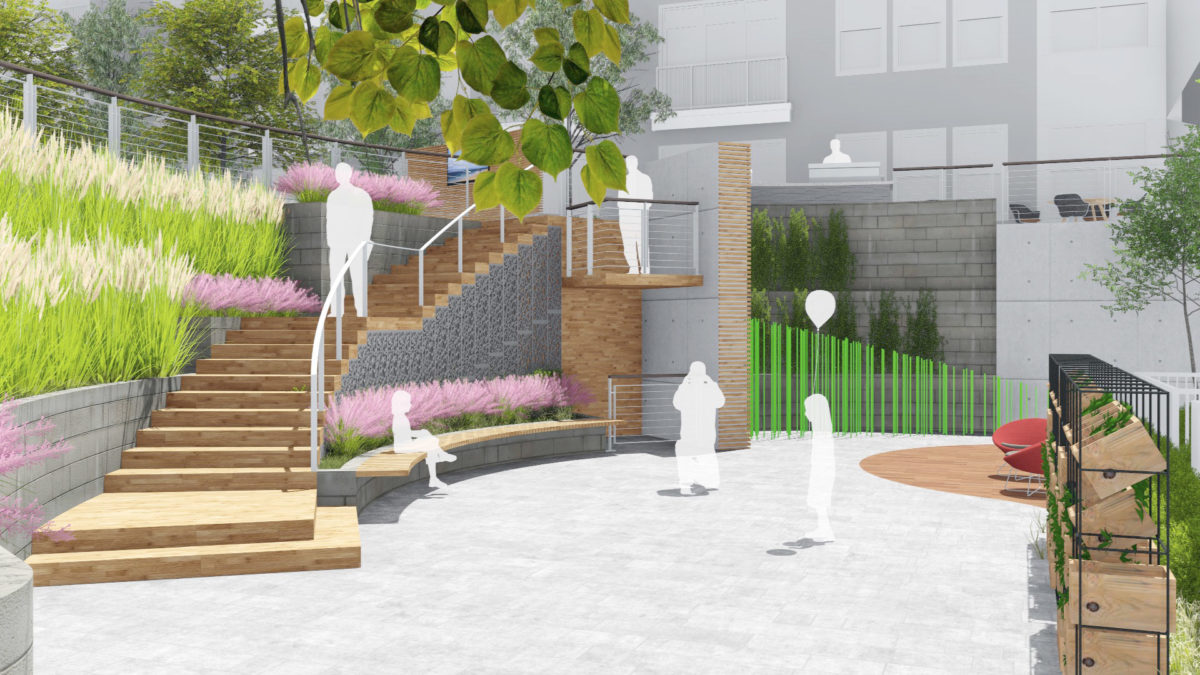 Courtyard Concept Illustrative