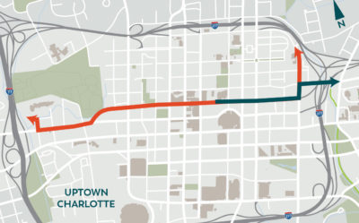 Stewart, Charlotte DOT, and Sustain Charlotte Announce Plans for Uptown Cycle Track