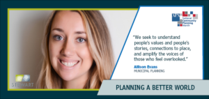 Allison Evans National Community Planning Month
