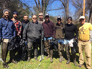 Little Sugar Creek Greenway Cleanup 300x225