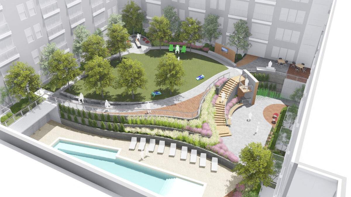 Illustrative of Courtyard