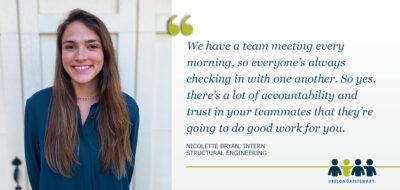 Intern Spotlight: Nicolette Bryan, Structural Engineering