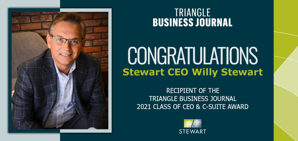 Willy Stewart Recognized among the 2021 TBJ CEOs of the Year!